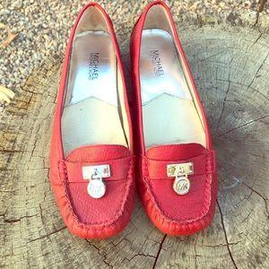 MICHAEL Michael Kors Red Moccasin Flats